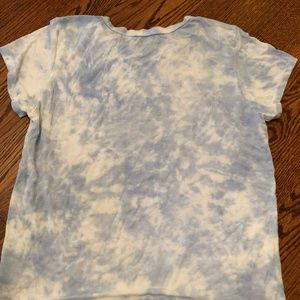 Blue and White Tie Dye T-Shirt